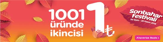 Sonbahar Festivalinde 1001 Üründe İkincisi 1 TL