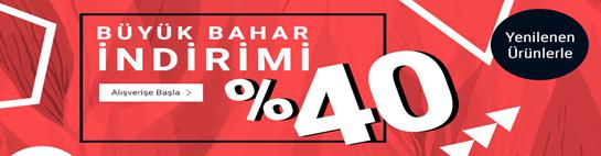 Büyük Baharda Yenilenen Ürünlerde %40 İndirim Tchibo'da!