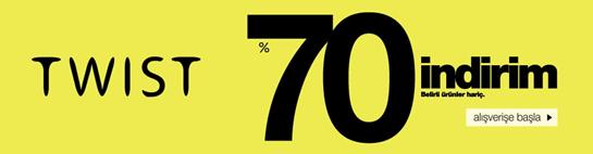 Twist'de Sezon Ürünlerinde Net %70 İndirim!