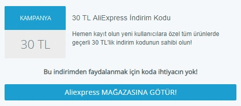 aliexpress kampanya