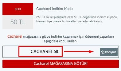 Cacharel indirim kodu
