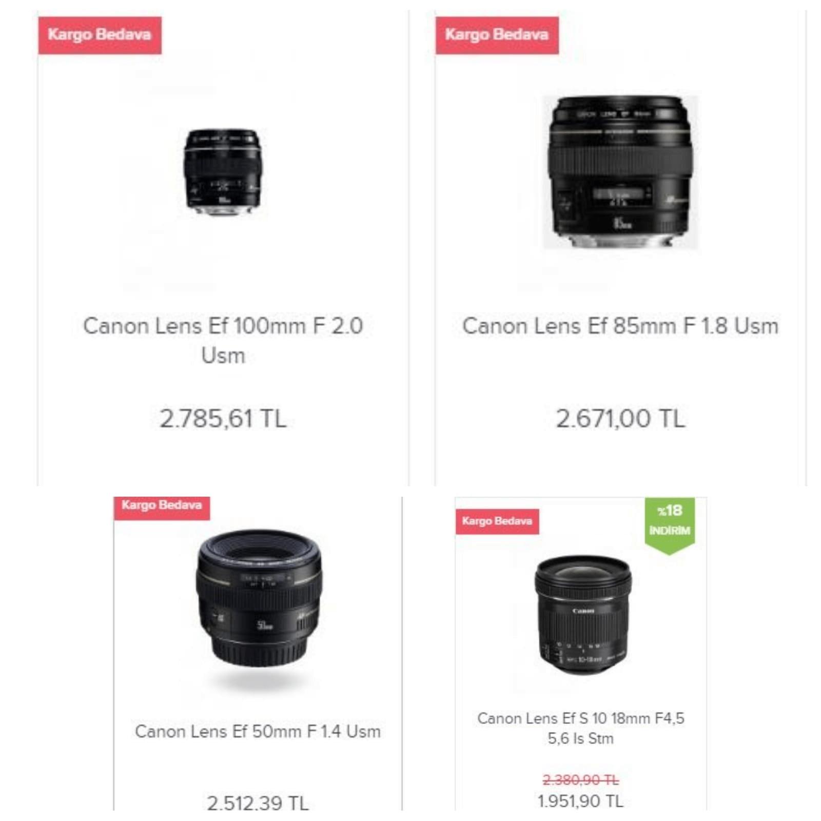 Fotograf Makinesi Lensi Favorilerim