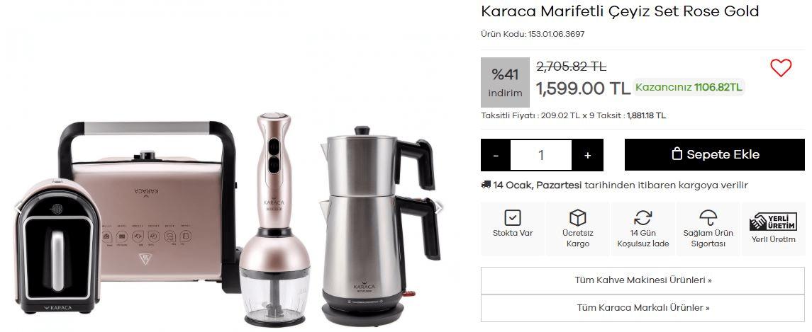 Karaca küçük mutfak aletleri
