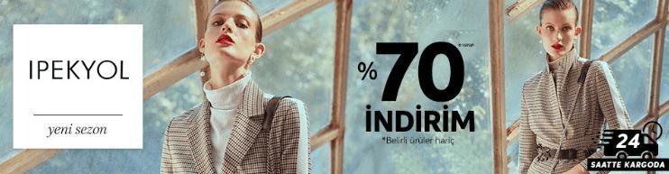 Trendyol İpekyol Mağazasında Yeni Sezon Ürünlerde %70 İndirim Kampanyası