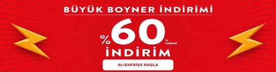 Boyner'de yüzlerce üründe %60'a varan indirimler!