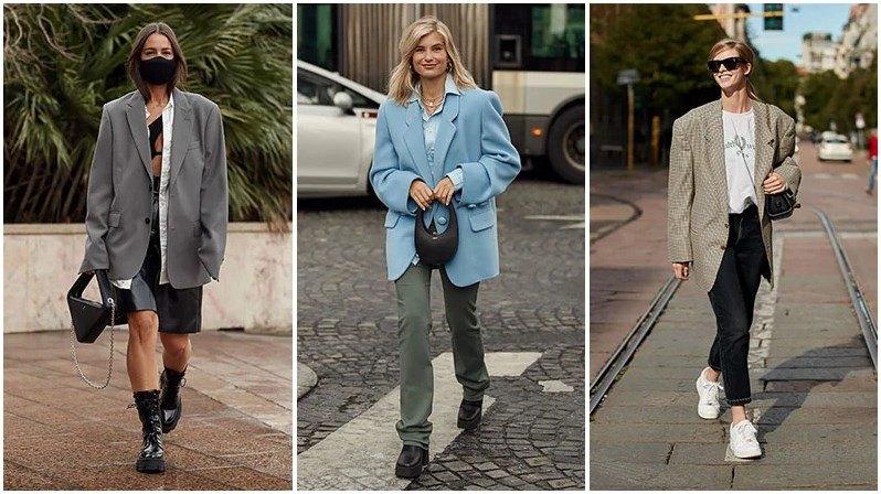 Omuz çantası boyfriend ceket 2021